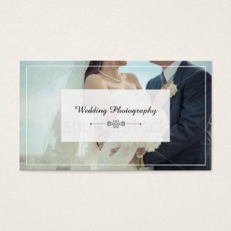 Cartão de visita dos fotógrafo do casamento