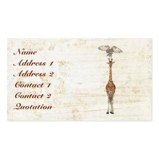Cartão de visita dos PONTOS & das PENAS