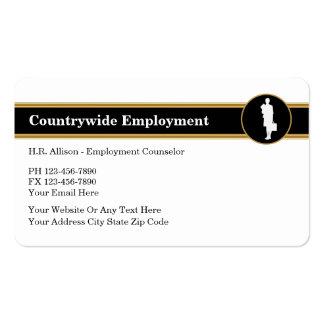 Cartão de visita dos recursos humanos