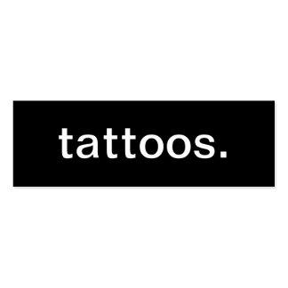 Cartão de visita dos tatuagens