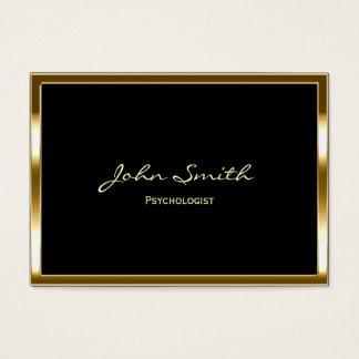 Cartão de visita dourado do psicólogo da beira