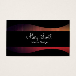 Cartão de visita elegante clássico