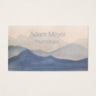 Cartão de visita elegante da paisagem abstrata da