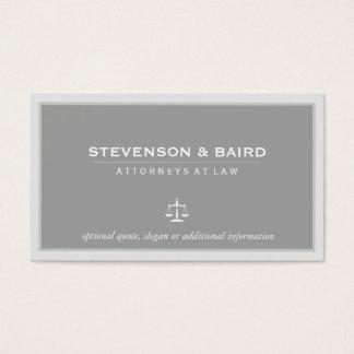 Cartão de visita elegante do advogado