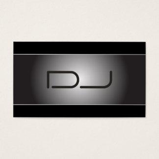 Cartão de visita elegante do DJ do costume