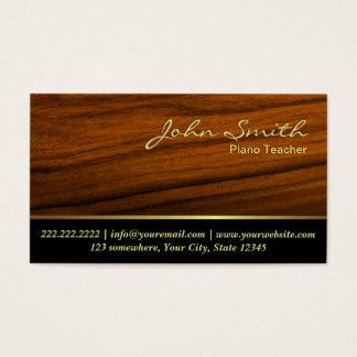 Cartão de visita elegante do professor de piano do