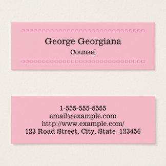 Cartão de visita elegante e limpo do conselho