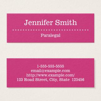 Cartão de visita elegante e mínimo do Paralegal