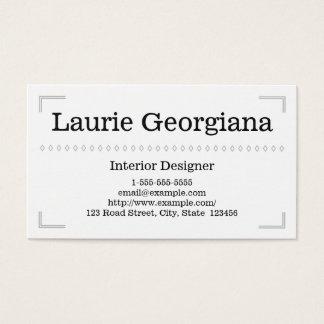 Cartão de visita elegante & elegante do designer