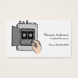 Cartão de visita Elétrica de Eletricista Empresa