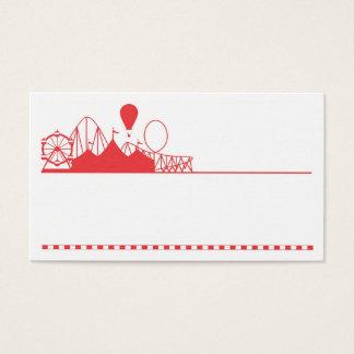 Cartão de visita emocionante do partido e dos