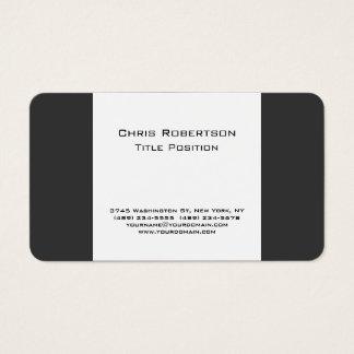 Cartão de visita encantador atrativo do branco