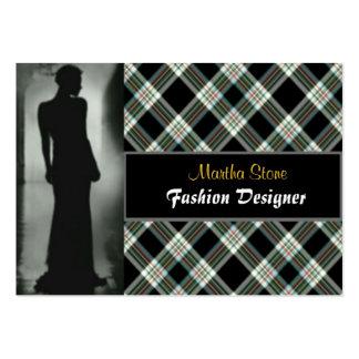 Cartão de visita escocês do desenhador de moda