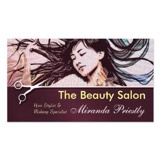 Cartão de visita escovado do metal do cabeleireiro