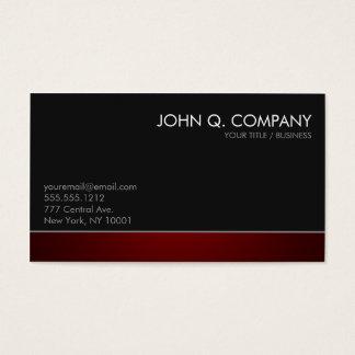 Cartão de visita escuro profissional moderno -