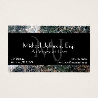 Cartão de visita executivo do advogado