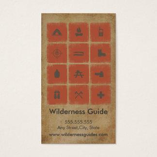 Cartão de visita exterior do guia da região