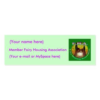 Cartão de visita feericamente da associação de