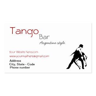 Cartão de visita feito sob encomenda do tango