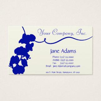 Cartão de visita floral azul