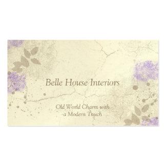 Cartão de visita floral do jardim da lavanda