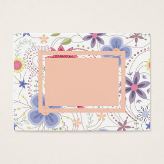 Cartão de visita floral do vintage