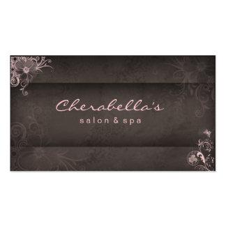 Cartão de visita floral dos termas cor-de-rosa do