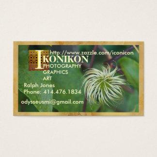 Cartão de visita floral feito sob encomenda