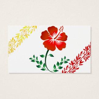 Cartão de visita floral real