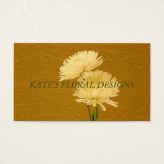 Cartão de visita floral simples
