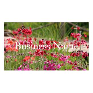 Cartão de visita florido cor-de-rosa