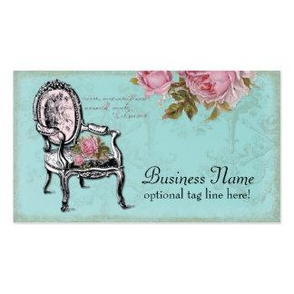 Cartão de visita francês da cadeira