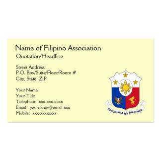 Cartão de visita genérico da associação filipina