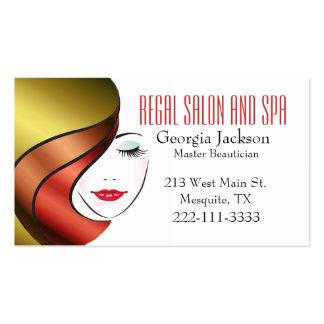Cartão de visita Glam moderno do cabeleireiro