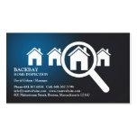 Cartão de visita Home da inspeção
