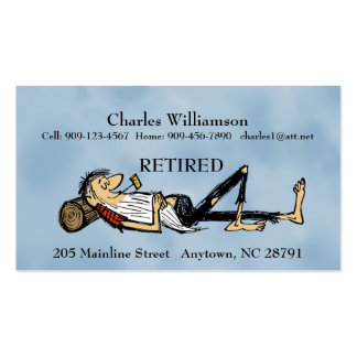 - Cartão de visita - imagem aposentada de Rip van