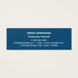 Cartão de visita incorporado básico azul escuro do
