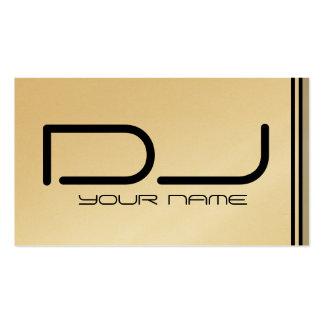 Cartão de visita legal do DJ