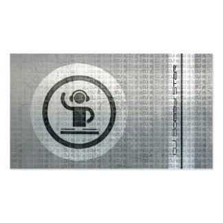 Cartão de visita legal do tekst do metal do logoti