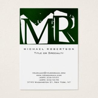 Cartão de visita legal do verde branco atrativo do