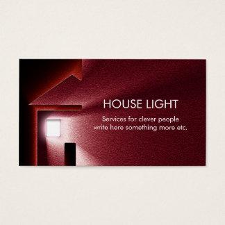 cartão de visita leve da energia da eletricidade