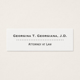 Cartão de visita limpo & profissional do advogado