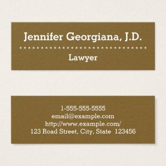 Cartão de visita liso & profissional do advogado