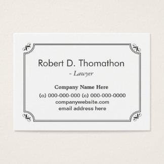 Cartão de visita liso, simples, branco,