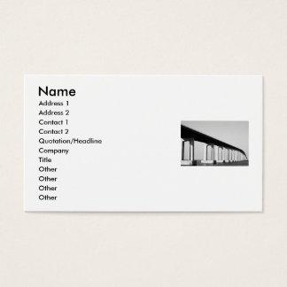 Cartão de visita longo da ponte