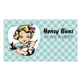 Cartão de visita louro do cozinhar do cozimento da