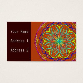 Cartão de visita mágico da mandala da flor