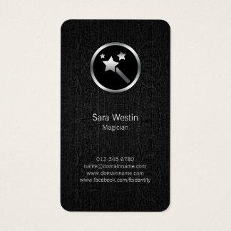 Cartão de visita mágico do ícone da varinha do