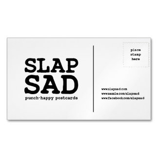 Cartão de visita magnético de SlapSad