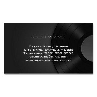 Cartão de visita magnético do DJ